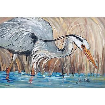 Carolines Treasures JMK1013PLMT Blue Heron i siv fabric underlag