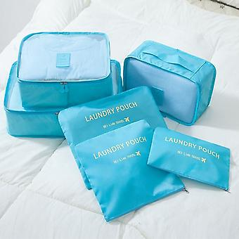 Light blue 6pcs inserts for suitcases