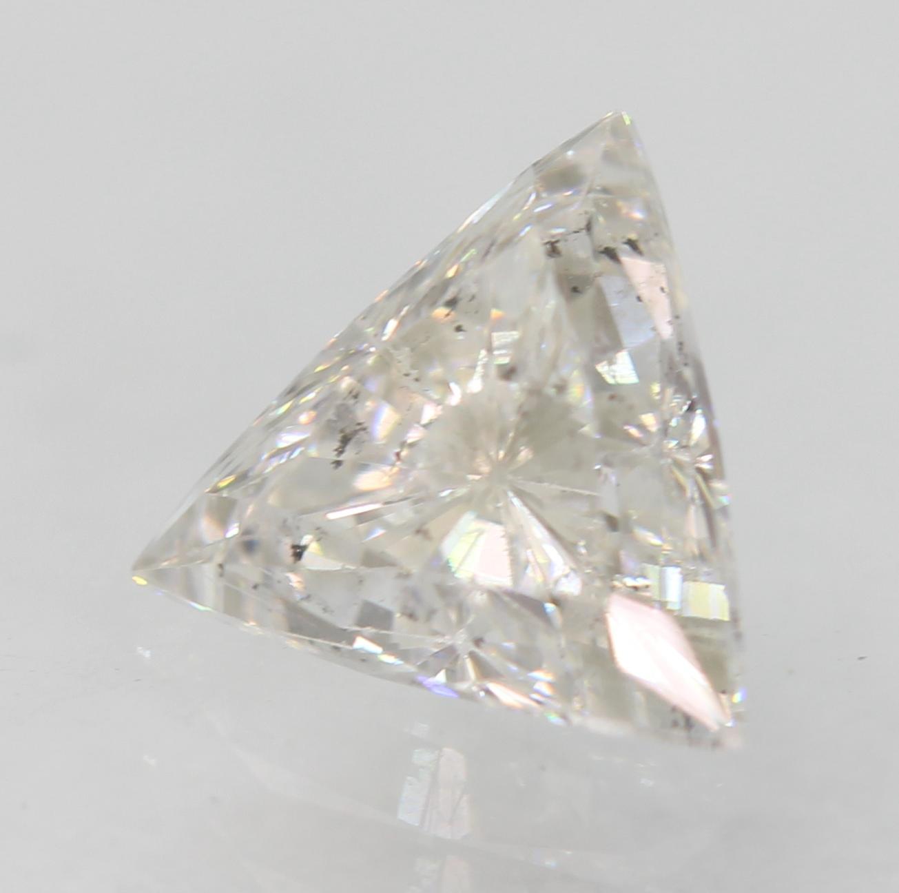 Certified 0.59 Carat E VS2 Triangle Enhanced Natural Loose Diamond 5.75x5.75mm