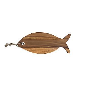 Акации рыба висит разделочную доску в форме