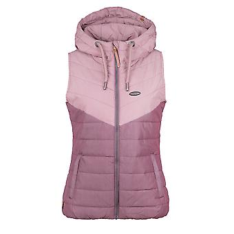 Alife and Kickin Women's Vest with Hood Cherry Vest grape