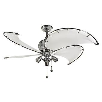 Decke Ventilator Spinnaker weiß mit Beleuchtung 132 cm/52