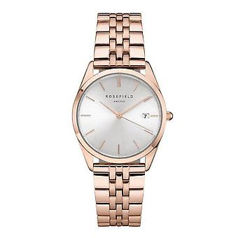 Rosefield ACSR-A14 Watch - Bo tier m tal gold rose shiny white dial with dateur gold gold bracelet pink Women