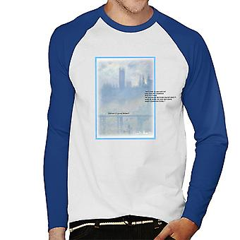 A.P.O.H Oscar Claude Monet Painting Quote Men's Baseball Long Sleeved T-Shirt