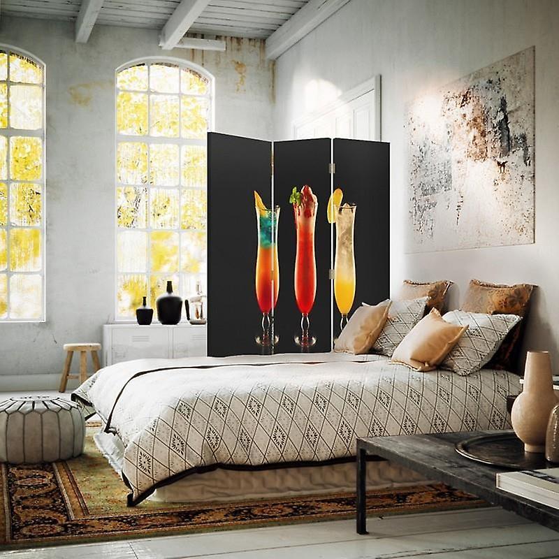 Diviseur de chambre, 3 panneaux, unilatéral, toile, cocktails