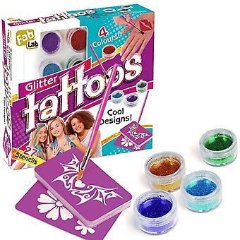 FabLab Glitter tatuaże zestaw ponad 25 unikalnych wzrok tatuaż wzory