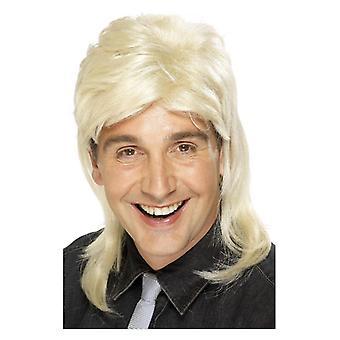 Mens Mullet parykk Blonde Fancy kjole tilbehør