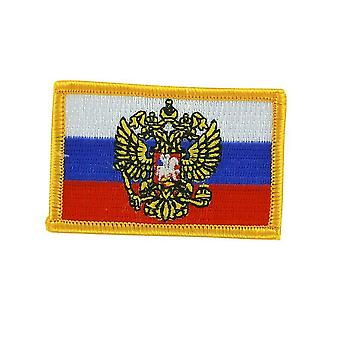 Patch Ecusson Brode Flag Russia Eagle Imperial Royal Thermocollant Backpack