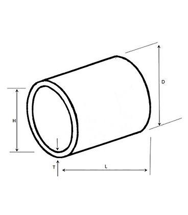 Non Threaded Spacer / Washer 21 Mm Id 16 Mm Length - T316 Stainless Steel  (a4 Grade)