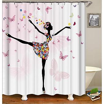 Dancing With The Butterflies Shower Curtain