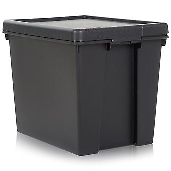 Wham Storage 24 Litre Wham Bam Heavy Duty Recycled Box With Black Lid