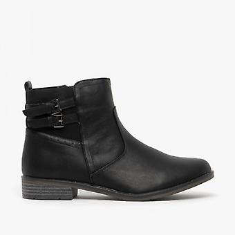 Comfort Plus Patricia Ladies Pu Ankle Boots Black