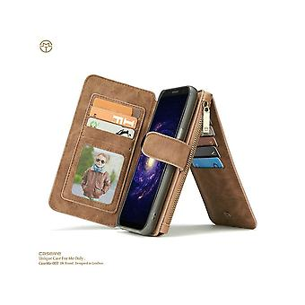 Etui Pour Samsung Galaxy S8 Portefeuille Multifonctions Marron