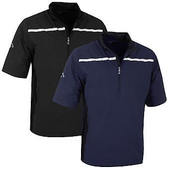 Callaway Golf mens SS 1/4 zip borst Stripe wind shirt