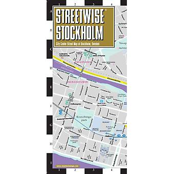 Streetwise Map Stockholm Laminated City Center Street Map of Stockholm  City Plans