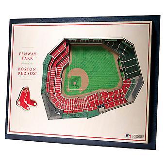 YouTheFan Wood Wall decoration stadium Boston Red Sox 43x33cm