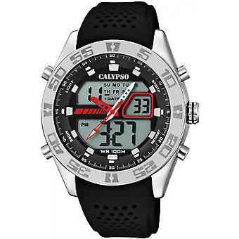 Calypso klocka klockor K5774-4 - klocka silikon svart man