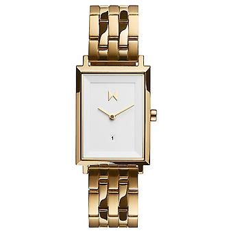 MVMT D-MF03-G Watch - Women's Dor Steel Rectangular White Dial