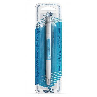 Regenbogen Staub doppelseitige Lebensmittel Stifte essbare Lebensmittel Pen Royal Blue