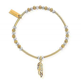 ChloBo GMBSBNH1089 Women's Sparkle Filigree Feather Bracelet