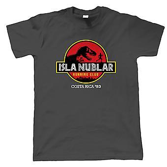 Isla Nublar Running Club Jurrasic Movie Inspired, Mens T-Shirt - Gift Him Dad
