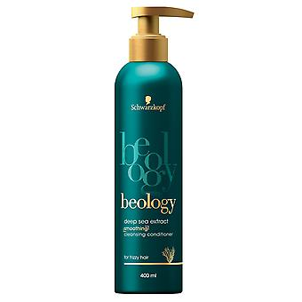 Schwarzkopf Beology Cleansing Conditioner Deep Sea Extract 400ml with Pump for Frizzy Hair