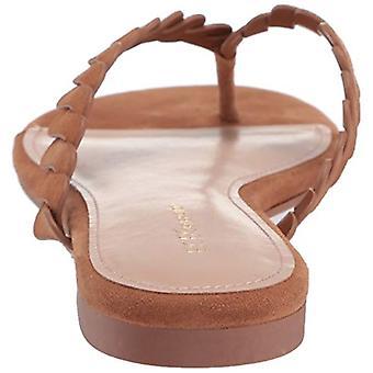 BCBGeneration Women's Gabriela Flip-Flop, Chocolate Suede, 6.5 M US