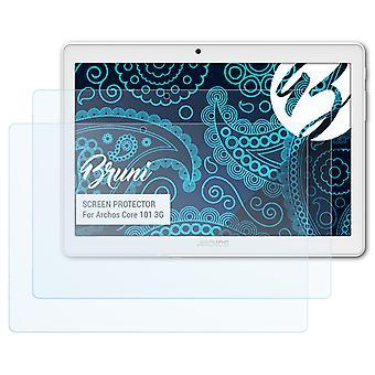Bruni 2x näytönsuoja yhteensopiva Archos Core 101 3G suojakalvo