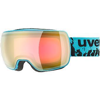 Uvex Compact FM Petrol Mirror Pink Ski Mask
