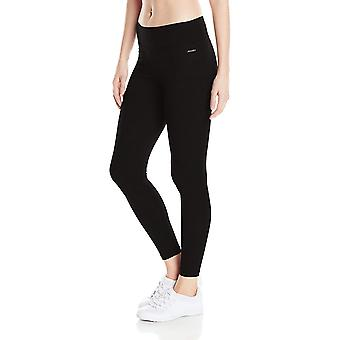 Jockey Women's Ankle Legging with Wide Waistband, Deep Black, Small