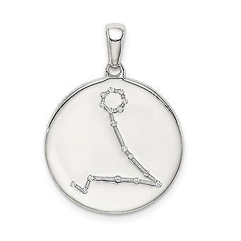925 Sterling Silver och CZ Cubic Zirconia Simulerade Diamond Fiskarna Zodiac Hängande Halsband Smycken Gåvor för kvinnor