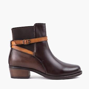 Cheryl brown leather ankle boot