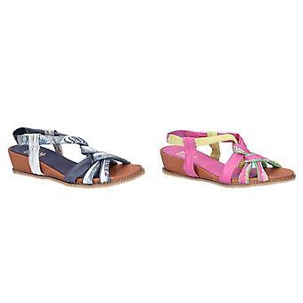 Riva dames/dames Diamond elastische Sling terug lederen sandaal