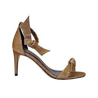 Alexandre Birman Clarita75 Damen's Gold Stoff Sandalen