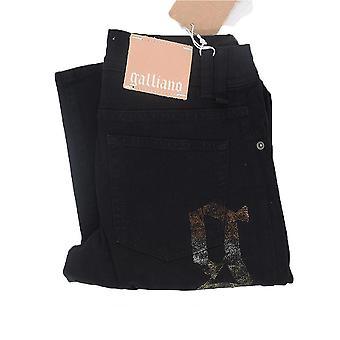 GALLIANO Women's Jeans Gold G Pocket Motif