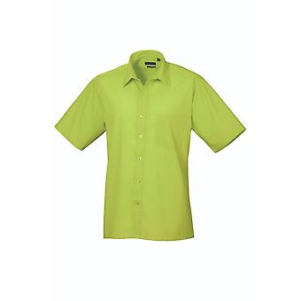 Premier short sleeve poplin shirt pr202 bright colours