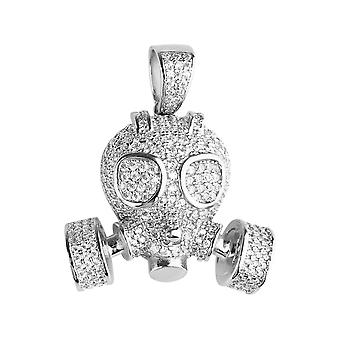 Premium Bling - 925 sterling silver 3D gas mask