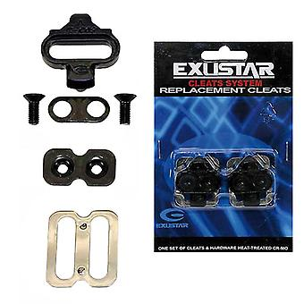Exustar E-C05F Cleats/Shoe Plates (Set) // for Shimano SPD Bicycle Pedals