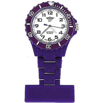 Prince London Rubberised Purple Rotating Bezel Unisex Nurses Fob PI-2048