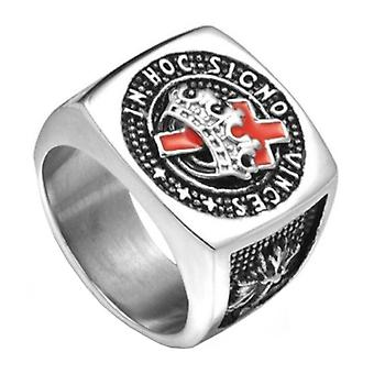 Knights templar masonic ring stainless steel