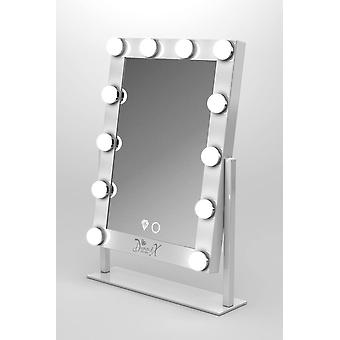 Mini X Hollywood Makeup Mirror with Touch Dimmer, adjustable angle