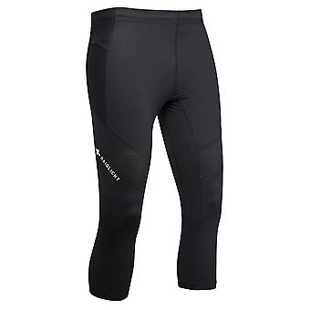 Raidlight 3/4 Trail Raider Mens Breathable Cropped Running Tights Black
