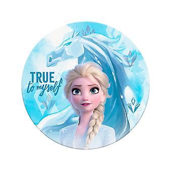 Frozen 2, Serviette ronde - Elsa et Nokk