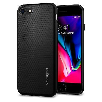 Case For IPhone Se (2020) / IPhone 8 / IPhone 7 Liquid Air Black Mat