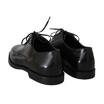 دولتشي وغابانا الأسود الجلود اللباس الرسمي أحذية الرجال - MV22512944