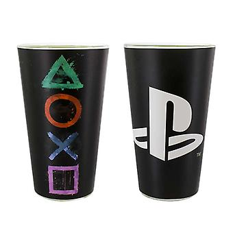 Playstation Black Glass with Logo & Symbols