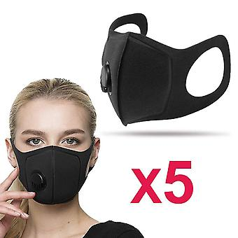 5-pakning profesjonell vaskbar munn vakter med 14:5 filter