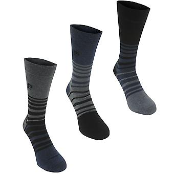 Pierre Cardin Mens 3 Pack Fashion Socks Crew Knitted
