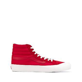 Vans Ezcr011001 Men's Red Fabric Hi Top Sneakers