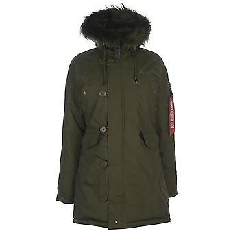 Alpha Industries Ezcr026001 Donne's Green Polyester Coat